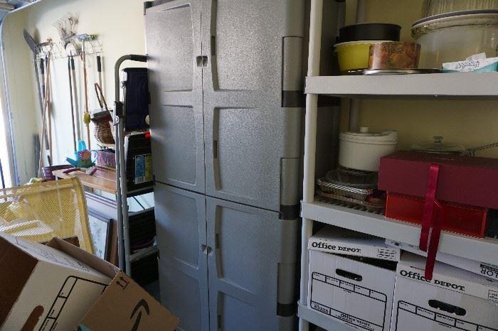 gray storage unit