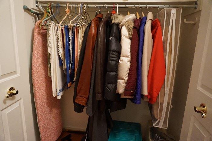 jackets, tablecloths, linens