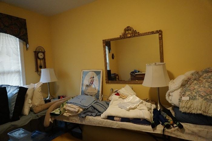 linens, bedding, blankets