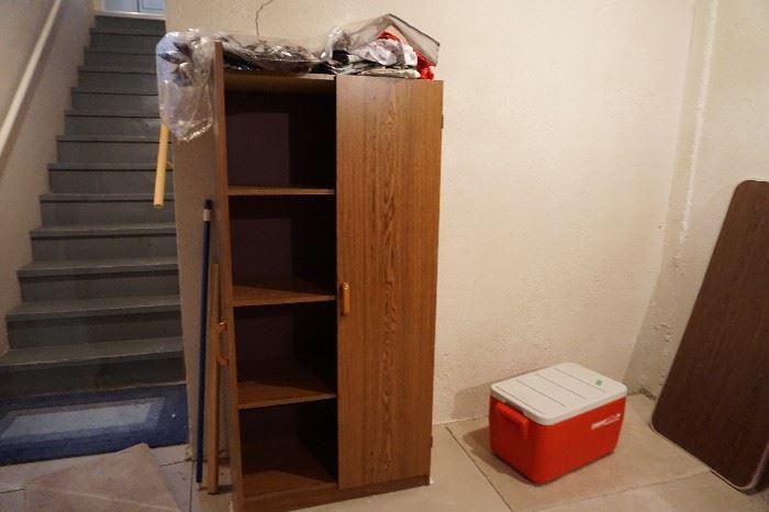 shelved storage cabinet