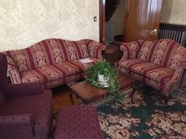 Ethan Allen love seat and sofa
