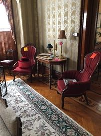 Coordinating Ethan Allen fabric that goes with Love Seat and Sofa