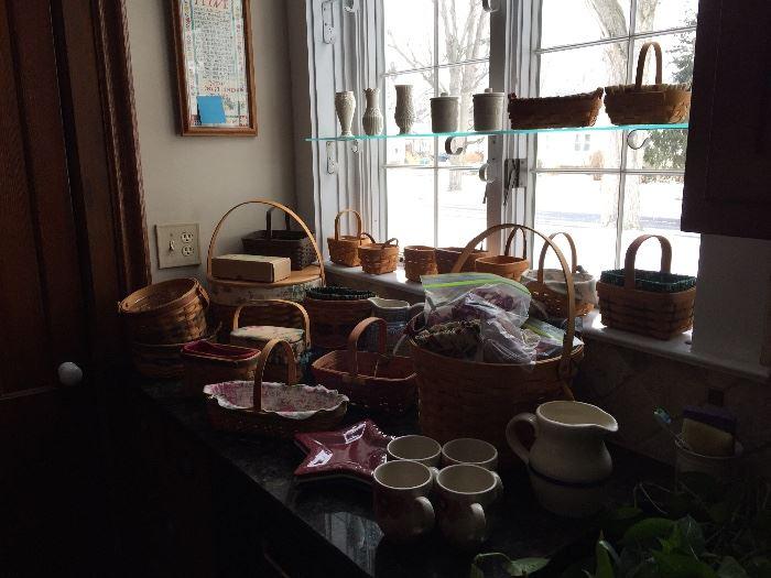 Longaberger Baskets and pottery GALORE