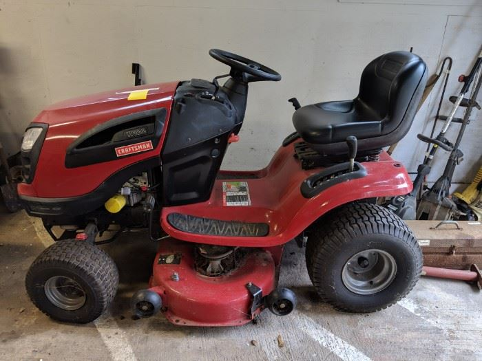 NIce riding lawnmower. Garage house on the hill. Runs great.