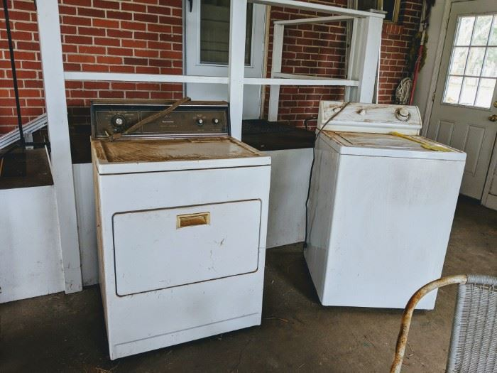 Both have been in storage. Have no idea of condition other than what I see. BUt they are cheap. House on hill
