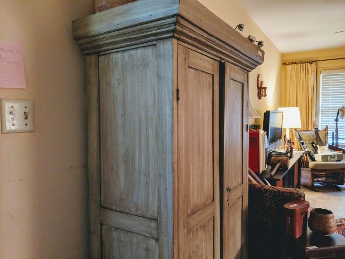 Wonderful two door pine cupboard. House on the hill