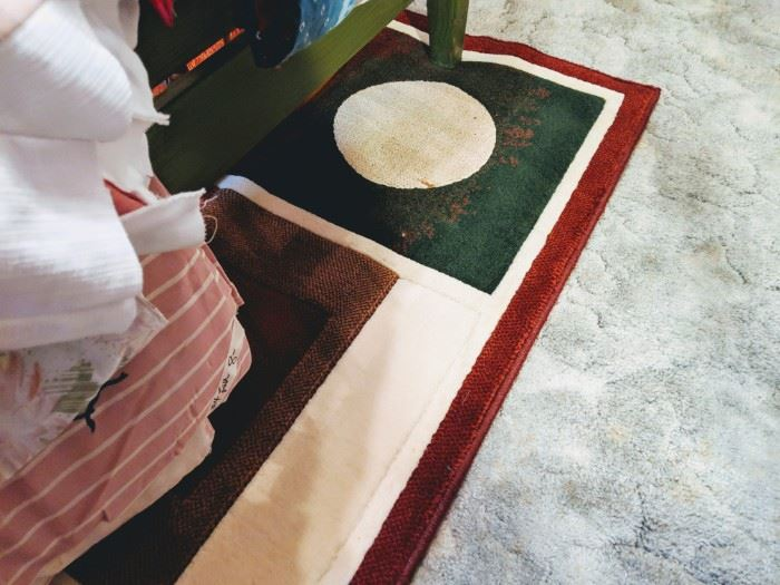 Corner of the den rug