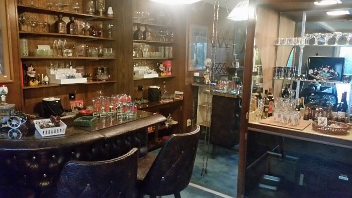 House is packed!  Tons of great vintage & mid century bar ware.