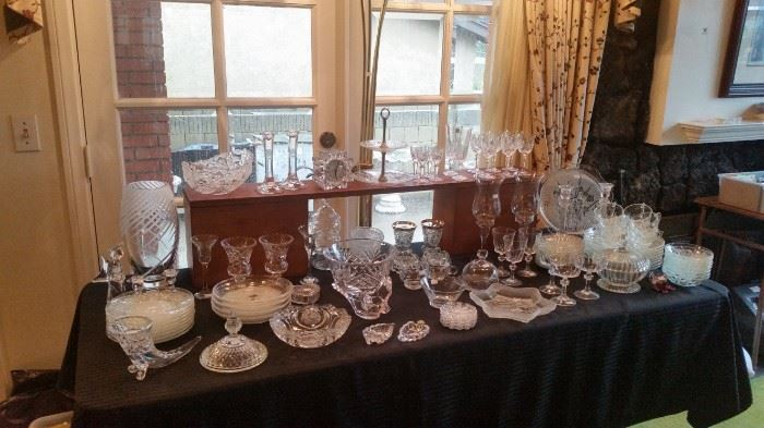 Lots of glass and crystal.