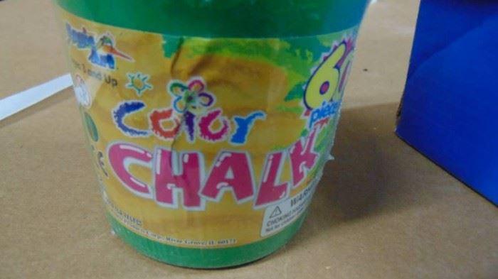 chalk color pencils  model paint  glue gun  s ...