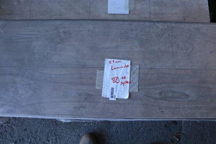 7 boxes of 11.5mm Laminate Flooring 131 Sq Ft tota ...