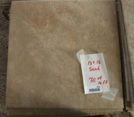 70 Sq Ft of 18 x 18 Sand Porcelain Tile Flooring