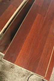 77 Sq Ft of 8mm Rosewood Plank Laminate Flooring