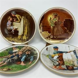 Norman Rockwell Plate Collection of 4 https://ctbids.com/#!/description/share/103106