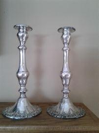 Pair of Gorham Chantilly candle sticks