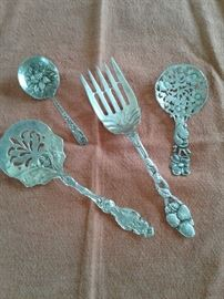 Selection of Sterling serving pieces