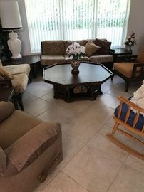 ASIAN OCTAGON COFFEE TABLE $100