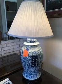 Antique Asian lamp