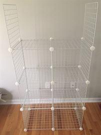 Re-arrangeable Wire Shelving Kit