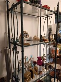 antique metal shelving