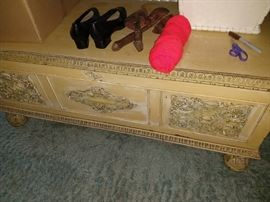 antique painted cedar chest
