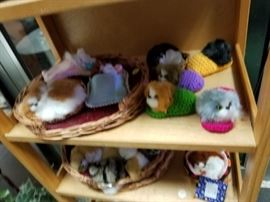 Assorted lifelike mini dogs & cats with real hair (great Easter basket items)