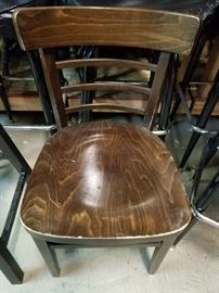 Solid wood ladder back dining room side chairs 43 available