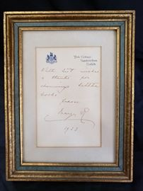 Queen Mary of England Hand Signed Letter https://ctbids.com/#!/description/share/104257