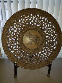 Carved round elephant oversized plaque https://ctbids.com/#!/description/share/104259