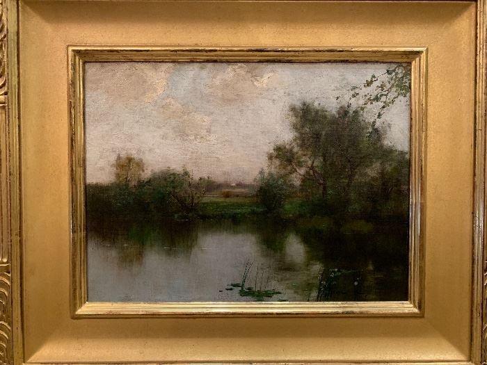 Oil Painting by Bruce Crane d.1885