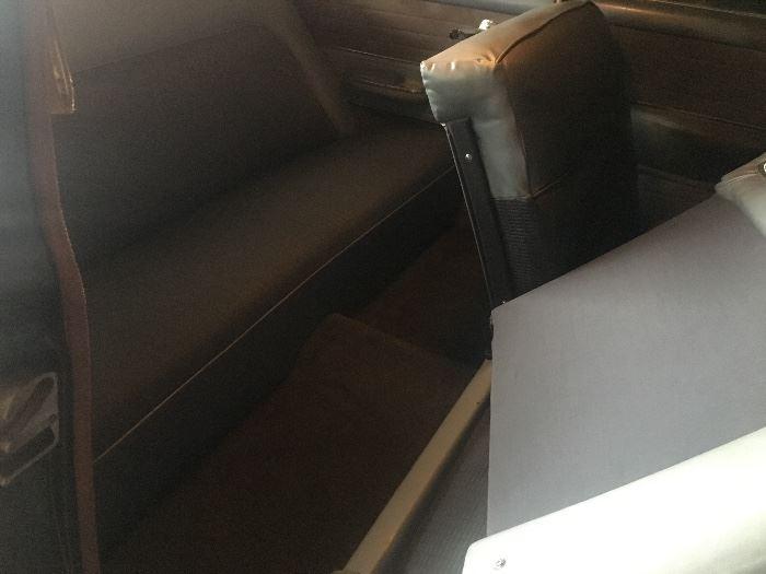 Back seat interior of 1954 Bel Air