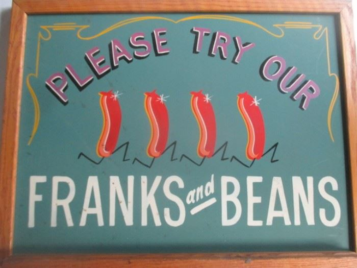 franks and beans sign