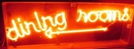 dining rooms neon sign