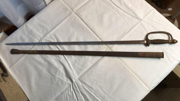1863 US Civil War Union NCO Sword and Scabbard