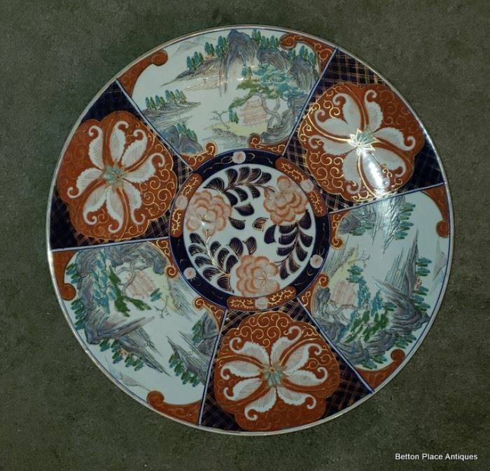 Late 19th Century Imari Edo Period large Charger, there are two of these identical pieces.