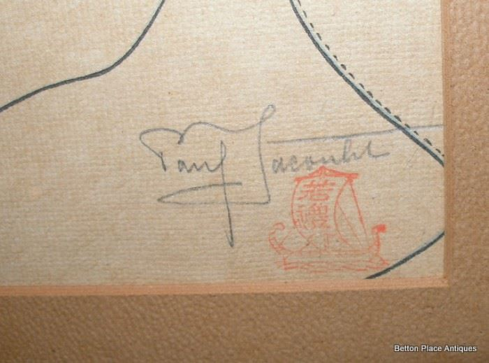 Signature on Jacoulet Woodblock