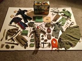 1964 Hasbro GI Joe Figurine and Gear