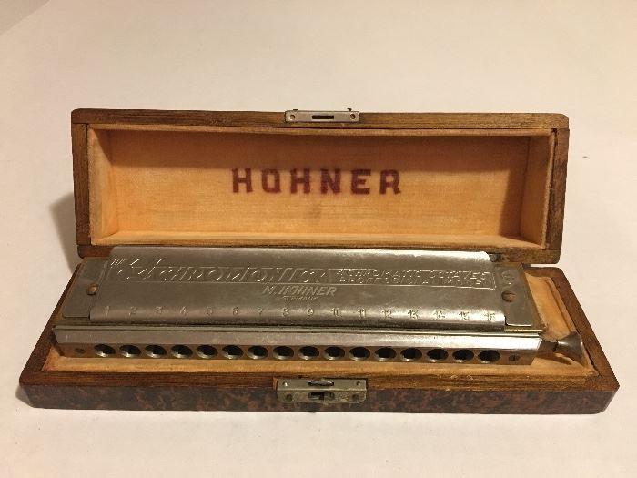 Hohner 64 Chromonica Professional Harmonica in box