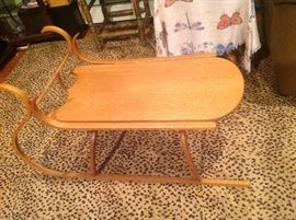 Maple sled coffee table made in vermont