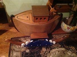 Noah's Arc children's toy box, hand made