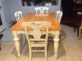 Hand Painted table with 4 matching chairs