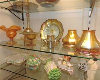 SOME of the colored glass in PHASE ONE including TIFFANY, Steuben … MORE TO COME