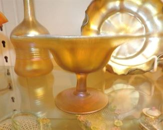 L.C. Tiffany footed compote
