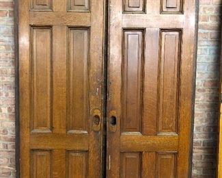 Victorian pocket doors from local mansion