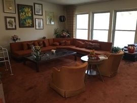 Original Adrian  Pearsall sectional, bought in 1966.  Mint condition!