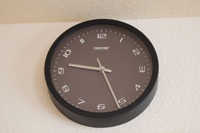 Black FirstTime Wall Clock