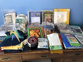 Large selection of packaged quilting  projects