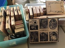 Very large selection of stamp blocks