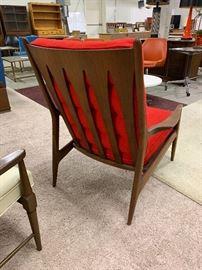 Back of Milo Baughman lounge Chair