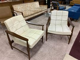 Pair Mid-Century Lounge Chairs